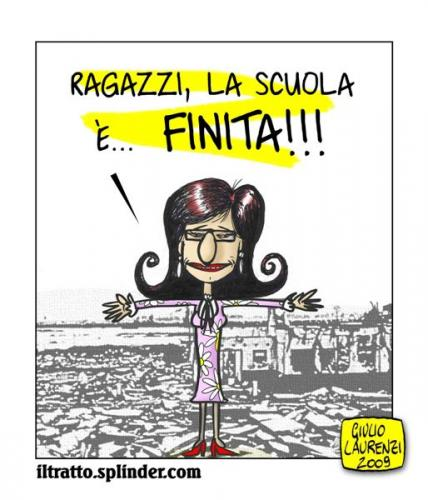 Cartoon: Scuola Rielaborata (medium) by Giulio Laurenzi tagged politics