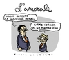Cartoon: Lamorale (small) by Giulio Laurenzi tagged amorale