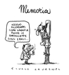 Cartoon: Memoria (small) by Giulio Laurenzi tagged memoria