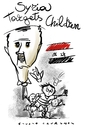 Cartoon: Syria targets children (small) by Giulio Laurenzi tagged syria,assad