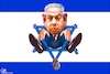 Cartoon: Deadlock Netanyahu (small) by Bart van Leeuwen tagged benjamin,netanyahu,israel,deadlock,election,rerun,gantz