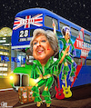 Cartoon: Final Tour (small) by Bart van Leeuwen tagged theresa,may,brexit,abba,dancing,queen,negotiations,eu