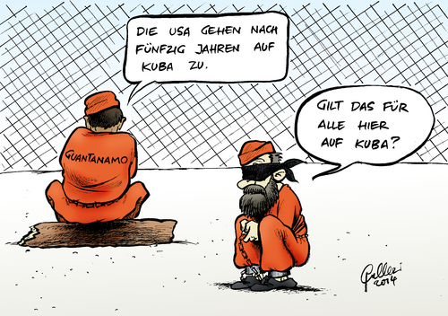 Cartoon: Annäherung (medium) by Paolo Calleri tagged calleri,paolo,cartoon,karikatur,eroeffnung,botschaft,gefangenenlager,guantanamo,terrorismus,isolation,castro,obama,kontakt,kapitalismus,sozialismus,handelsembargo,eiszeit,diplomatie,havanna,washington,kuba,usa,usa,kuba,washington,havanna,diplomatie,eiszeit,handelsembargo,sozialismus,kapitalismus,kontakt,obama,castro,isolation,terrorismus,guantanamo,gefangenenlager,botschaft,eroeffnung,karikatur,cartoon,paolo,calleri