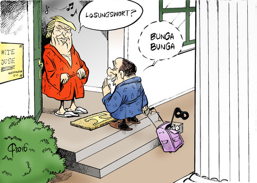 Einweihungsparty By Paolo Calleri Politics Cartoon Toonpool