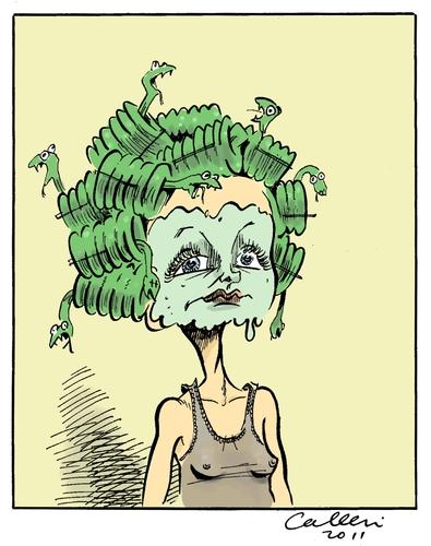 Medusa By Paolo Calleri Famous People Cartoon Toonpool