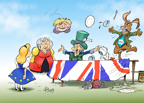 Cartoon: Wonderland (medium) by Paolo Calleri tagged eu,uk,gb,grosbritannien,vereinigtes,koenigreich,briten,britannien,brexit,referendum,volksabstimmung,unterhaus,parlament,abgeordnete,parlamentarier,demokratie,abstimmung,austrittsabkommen,europa,europawahl,wahlen,austritt,union,karikatur,cartoon,paolo,calleri,eu,uk,gb,grosbritannien,vereinigtes,koenigreich,briten,britannien,brexit,referendum,volksabstimmung,unterhaus,parlament,abgeordnete,parlamentarier,demokratie,abstimmung,austrittsabkommen,europa,europawahl,wahlen,austritt,union,karikatur,cartoon,paolo,calleri