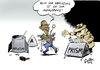 Cartoon: Atomare Abrüstung (small) by Paolo Calleri tagged deutschland,berlin,usa,besuch,präsident,barack,obama,rede,atomare,abrüstung,brandenburger,tor,waffen,atombomben,prism,spionage,bespitzelung,nsa,geheimdienste,ueberwachung,programm,karikatur,paolo,calleri