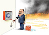 Cartoon: Feuerknopf (small) by Paolo Calleri tagged eu,tuerkei,syrien,einmarsch,offensive,praesident,recep,tayyip,erdogan,militaer,militaerbuendnis,nato,kurden,gewalt,krieg,buendnisfall,karikatur,cartoon,paolo,calleri