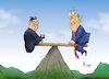 Cartoon: Gipfeltreffen (small) by Paolo Calleri tagged vietnam,nordkorea,usa,us,praesident,donald,trump,kim,jong,un,treffen,gipfel,hanoi,gipfeltreffen,wiedersehen,abruestung,atomwaffen,rakenten,raketentests,frieden,atomwaffenarsenal,karikatur,cartoon,paolo,calleri