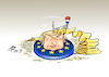 Cartoon: Käsehobel (small) by Paolo Calleri tagged eu,europa,wahlen,europawahl,2019,rechtspopulisten,holland,niederlande,partei,freiheit,geert,wilders,stimmen,verluste,nationalismus,faschismus,populistisch,karikatur,cartoon,paolo,calleri