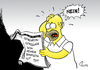 Cartoon: Norbert Gastell (small) by Paolo Calleri tagged comics,cartoon,zeichentrick,serie,the,simpsons,homer,simpson,sprecher,synchronsprecher,norbert,gastell,tod,stimme,karikatur,paolo,calleri