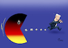 Cartoon: Pac-Man (small) by Paolo Calleri tagged deutschland,bundesregierung,bundesinnenminister,horst,seehofer,csu,parteivorsitzender,ruecktritt,populismus,asylstreit,groko,union,debatten,umfrage,mehrheit,karikatur,cartoon,paolo,calleri