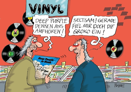 Cartoon: Deep Purple (medium) by RABE tagged deep,purple,hardrock,schallplatten,rockkonzerte,auftriit,rockerrente,schluss,konzert,bühnenshow,ian,gillen,roger,glover,rabe,ralf,böhme,cartoon,karikatur,pressezeichnung,farbcartoon,tagescartoon,vinyl,recordshop,hardrocker,fans,deep,purple,hardrock,schallplatten,rockkonzerte,auftriit,rockerrente,schluss,konzert,bühnenshow,ian,gillen,roger,glover,rabe,ralf,böhme,cartoon,karikatur,pressezeichnung,farbcartoon,tagescartoon,vinyl,recordshop,hardrocker,fans