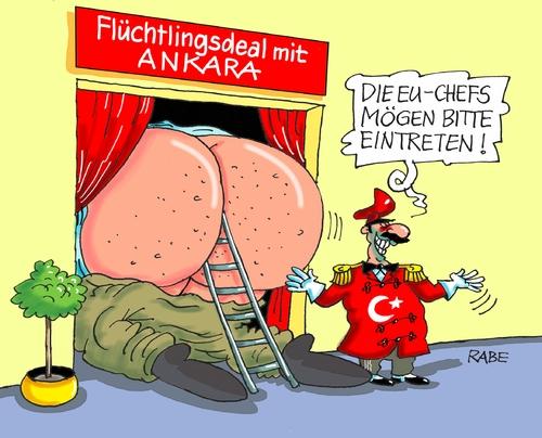 Flüchtlingsdeal By RABE | Politics Cartoon | TOONPOOL