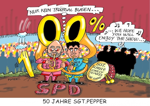 Cartoon: Fünfzig Jahre Sgt Pepper (medium) by RABE tagged martin,schulz,kanzlerkandidat,hubertus,heil,spd,generalsekretär,bundestagswahl,umfragewerte,umfragetief,rabe,ralf,böhme,cartoon,karikatur,pressezeichnung,farbcartoon,tagescartoon,sgt,pepper,hearts,club,band,lp,beatles,popband,beatgruppe,schallplatte,meisterwerk,lennon,mccartney,harrison,starr,abbey,road,musik,unterhaltung,martin,schulz,kanzlerkandidat,hubertus,heil,spd,generalsekretär,bundestagswahl,umfragewerte,umfragetief,rabe,ralf,böhme,cartoon,karikatur,pressezeichnung,farbcartoon,tagescartoon,sgt,pepper,hearts,club,band,lp,beatles,popband,beatgruppe,schallplatte,meisterwerk,lennon,mccartney,harrison,starr,abbey,road,musik,unterhaltung