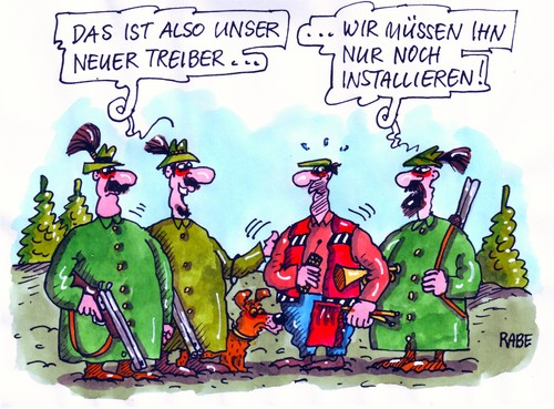 Cartoon jagd medium by rabe tagged treiber