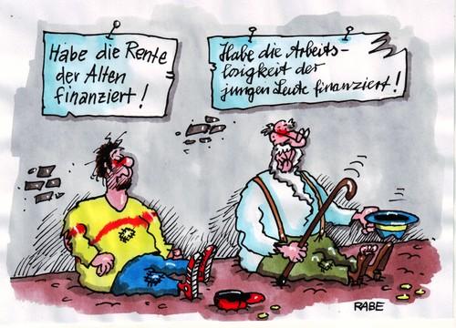 rentenfinanzierung by rabe politics cartoon toonpool. Black Bedroom Furniture Sets. Home Design Ideas