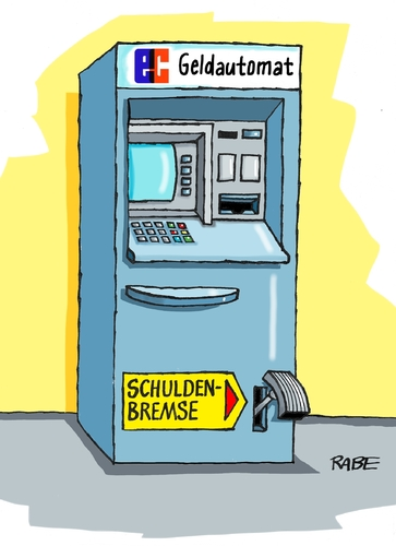 Cartoon: Schuldenbremse neu (medium) by RABE tagged schulden,schuldenbremse,schuldenkrise,eu,euro,eurozone,griechenland,athen,tsipras,rabe,ralf,böhme,cartoon,karikatur,pressezeichnung,farbcartoon,tagescartoon,geldautomat,ec,sparkasse,bank,bremse,schulden,schuldenbremse,schuldenkrise,eu,euro,eurozone,griechenland,athen,tsipras,rabe,ralf,böhme,cartoon,karikatur,pressezeichnung,farbcartoon,tagescartoon,geldautomat,ec,sparkasse,bank,bremse