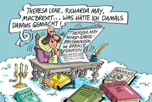 Cartoon: Shakespeare nochmal (medium) by RABE tagged shakespeare,theresa,may,england,britannien,cameron,brexit,himmel,wolken,rabe,ralf,böhme,cartoon,karikatur,pressezeichnung,farbcartoon,tagescartoon,könig,lear,hamlet,macbeth,grossbritannien,johnson,shakespeare,theresa,may,england,britannien,cameron,brexit,himmel,wolken,rabe,ralf,böhme,cartoon,karikatur,pressezeichnung,farbcartoon,tagescartoon,könig,lear,hamlet,macbeth,grossbritannien,johnson