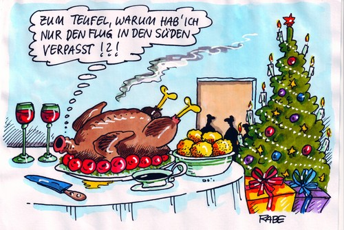 weihnachtsgans by rabe media culture cartoon toonpool. Black Bedroom Furniture Sets. Home Design Ideas
