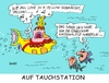 Cartoon: Auf Tauchstation (small) by RABE tagged em,fußball,england,aus,paris,heimreise,europameisterschaft,island,rabe,ralf,böhme,cartoon,karikatur,pressezeichnung,farbcartoon,tagescartoon,unterseeboot,yellow,submarine,beatles