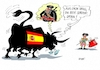 Cartoon: Barcelona (small) by RABE tagged spanien,barcelona,terroristen,lieferwagen,stier,torero,tuch,is,katalonien,katalanen,rabe,ralf,böhme,cartoon,karikatur,pressezeichnung,farbcartoon,tagescartoon,trauer,leid,elend,sprenstoffgürtel,islamisten