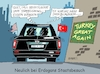 Cartoon: Erdogan bei Trump (small) by RABE tagged erdogan,akp,istanbul,bürgermeisterwahl,damoklesschwert,sultan,rabe,ralf,böhme,cartoon,karikatur,pressezeichnung,farbcartoon,tagescartoon,neuwahl,rennen,chp,imamoglu,yildirim,glühbirne,glühfaden,staatsbesuch,usa,donald,trump,washington,kurden,is,nato,syrien,thanksgiving,turkey,truthahn,essen