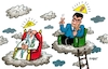 Cartoon: Kreuzschmerzen (small) by RABE tagged markus,söder,csu,bayern,münchen,landesvorsitzender,staatkanzle,behörden,ämter,jesus,kreuz,kreuzigung,christ,gott,auge,himmel,wolken