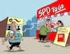 Cartoon: SPD To Go (small) by RABE tagged sonderparteitag,spd,martin,schulz,ja,groko,koalitionsverhandlungen,rabe,ralf,böhme,cartoon,karikatur,pressezeichnung,farbcartoon,tagescartoon,merkel,union,koalitionsgesprächeänderungen,änderungspapier,forderungen,kaffee,to,go,coffee,mitgliedsbücher,parteibücher,jusos,mitgliedschaft