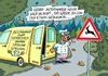Cartoon: Wildwechsel (small) by RABE tagged herbst,nebel,wild,wildwechsel,gefahr,unfall,auto,pkw,autofahrer,regen,rabe,ralf,böhme,cartoon,karikatur,pressezeichnung,farbcartoon,tagescartoon,koch,gastho,gaststätte,wildbret,hirsch,reh,hase,wildsau