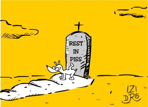 Cartoon: R.I.P (medium) by izidro tagged dog