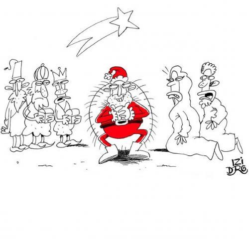 Santa claus by izidro religion cartoon toonpool