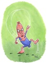 Cartoon: Spiderwuaaaarst (small) by mele tagged spiderman wurst comic