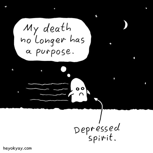 Cartoon: Spirit (medium) by heyokyay tagged depression,depressed,spirit,purpose,death,heyokyay