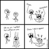 Cartoon: Oops (small) by heyokyay tagged coffee,webcomic,oops,humour,heyokyay