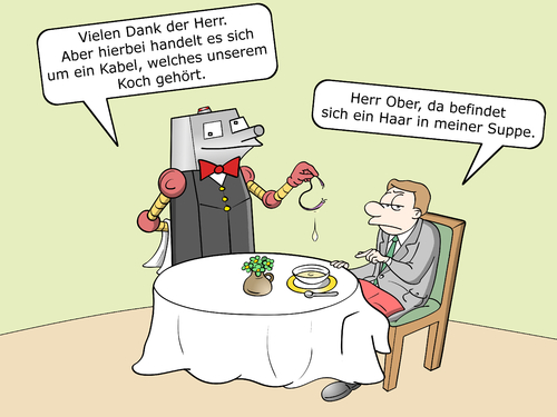 Robo koch by cloudscience business cartoon toonpool for Koch roboter