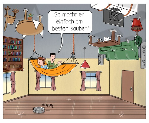 Cartoon: Roomba-risierung (medium) by CloudScience tagged roomba,roombarisierung,tech,technik,technologie,smart,home,irobot,staubsauger,staubsaugerroboter,roboter,iot,digital,digitalisierung,roomba,roombarisierung,tech,technik,technologie,smart,home,irobot,staubsauger,staubsaugerroboter,roboter,iot,digital,digitalisierung