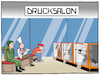 Cartoon: Der Drucksalon (small) by CloudScience tagged 3d,drucker,drucken,industrie,produktion,logistik,wirtschaft,handel,konsum,herstellungsverfahren,it,technologie,technik,gadget,tech,zukunft,disruption,transformation,retail,daten,koch,soldat,waffe,business,produktivitaet,cartoon,waschsalon,herstellung