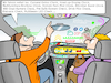 Cartoon: Digitalisierung des Autos (small) by CloudScience tagged digitalisierung,auto,smart,technologie,assistent,app,comand,online,check,headup,display,attention,assist,360,grad,kamera,cockpit,fahrerlenken,presafe,system,drive,pilot,distronic,multibeam,led,intelligenz,mobilitaet,logistik,copilot,lenkrad,steuer,car,autocartoon,technologiecartoons,illustration,technik,verkehr,straße,disruption,40,iot,internet,computer,zukunft