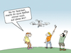 Cartoon: Twitter selfie (small) by CloudScience tagged twitter,selfie,drohne,selbstdarstellung