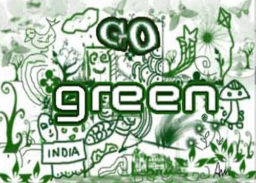 Cartoon: go green India (medium) by anupama tagged go,green
