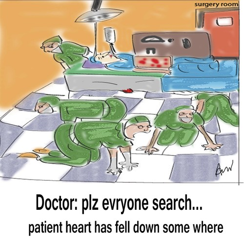 Cartoon: surgery room (medium) by anupama tagged heart