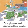 Cartoon: surgery room (small) by anupama tagged heart