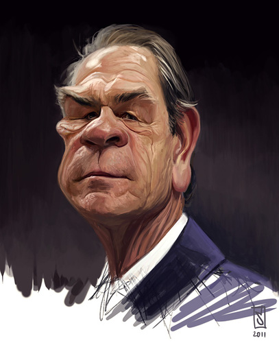 Cartoon: Tommy Lee Jones 2 (medium) by sting-one tagged tommy,lee