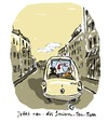 Cartoon: Senioren-Navi (small) by Bettina Bexte tagged tomtom navi senioren auto reise stadt fahrt sehschwäche