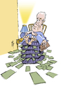 Cartoon: Fortisgate (small) by stip tagged ceo,fortis,lippens,money,scandal,bank,banking