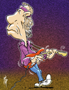 Cartoon: Mark Knopfler (small) by stip tagged mark knopfler dire straits rock guitar