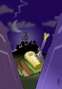 Cartoon: XY Death (small) by stip tagged cemetery graveyard death why unknown creepy spooky