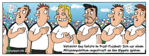 Cartoon: Schoolpeppers 322 (medium) by Schoolpeppers tagged fussball,wm,2014,sport,fetisch