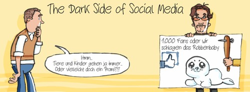 Cartoon: The Dark Side of Social Media (medium) by Schoolpeppers tagged application,mobile,media,social